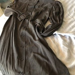 Silk Vintage Tunic Skirt Set or Suit